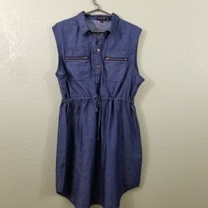 NWOT Ko Ko Ailis Denim Sleeveless Dress
